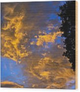 Colorful Western Sky At Sunrise Wood Print