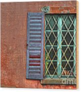 Colorful Window Wood Print