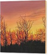 Colorful Winter Sunset Wood Print