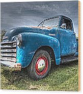 Colorful Workhorse - 1953 Chevy Truck Wood Print