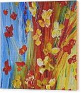 Colorful World Wood Print