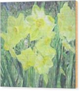 Colorful  Yellow Flowers Wood Print