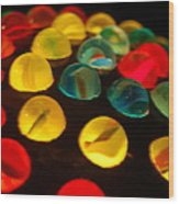 Colorfull Marbles Wood Print