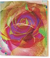 Colorfull Rose Wood Print