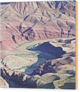 Colorodo River Flowing Through The Grand Canyon Wood Print
