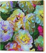 Colors And Roses Wood Print