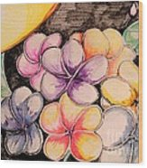 Colors Bloom Wood Print