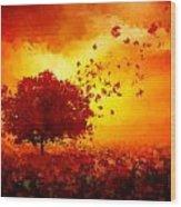 Colors Hymn Wood Print