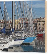 Colors In The Port Wood Print by John Rizzuto