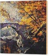 Colors Of Autumn Wood Print by Gun Legler
