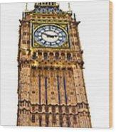 Colors Of Big Ben Wood Print