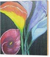 Colors Of Calla Lillies Wood Print