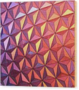 Colors Of Epcot Wood Print