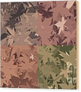 Colors Of Fall Leaves Abstract Wood Print