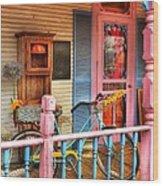 Colors Of Metamora 1 Wood Print by Mel Steinhauer