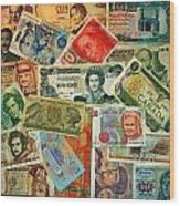 Colors Of Money Wood Print