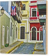 Colors Of Old San Juan Puerto Rico Wood Print