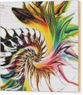 Colors Of Passion Wood Print
