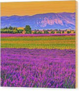 Colors Of Provence Wood Print