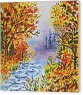 Colors Of Russia Autumn  Wood Print by Irina Sztukowski