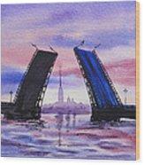 Colors Of Russia Bridges Of Saint Petersburg Wood Print