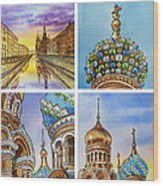 Colors Of Russia Church Of Our Savior On The Spilled Blood  Wood Print
