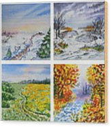 Colors Of Russia Four Seasons Wood Print