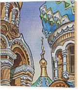 Colors Of Russia St Petersburg Cathedral II Wood Print
