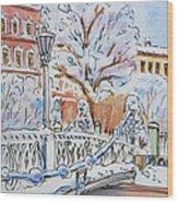 Colors Of Russia Winter In Saint Petersburg Wood Print