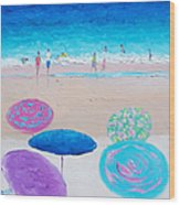 Colors Of Summer Beach Painting Wood Print