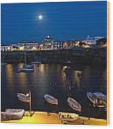Cala Corb In Es Castell - Minorca - Colors Of The Moonlight   Wood Print