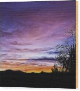 Colors Of The Night Wood Print