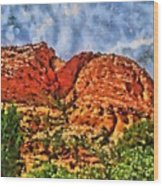 Colors Of Zion Wood Print