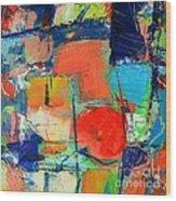 Colorscape Wood Print by Ana Maria Edulescu