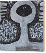 Colos Black Masks Wood Print by Mark M  Mellon
