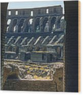 Colosseum Arch Wood Print