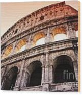 Colosseum Italy Wood Print
