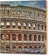 Colosseum Rome Wood Print