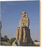 Colossi Of Memnon Egypt Wood Print