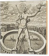 Colossus Of Rhodes, 17th-century Artwork Wood Print