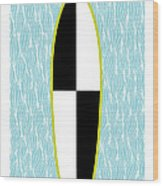Colour Block Surfboard Wood Print