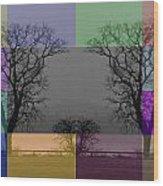 Colour Tile Wood Print