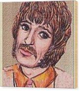 Coloured Pencil Portrait Wood Print