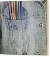 Coloured Pencils Wood Print