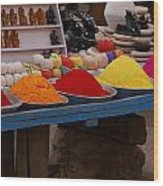 Coloured Powder Wood Print