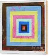 Coloured Squares Number 1 Wood Print