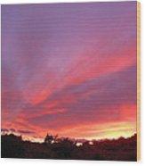 Colourful Arizona Sunset Wood Print