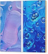 Colourful Bubble Abstract Quadriptych Wood Print