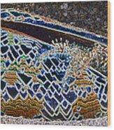 Colourful Crab Wood Print