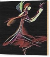 Colourful Dancer  Wood Print